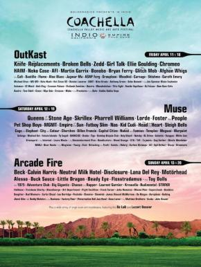 OutKast, Muse, and Arcade Fire To Headline Coachella2014